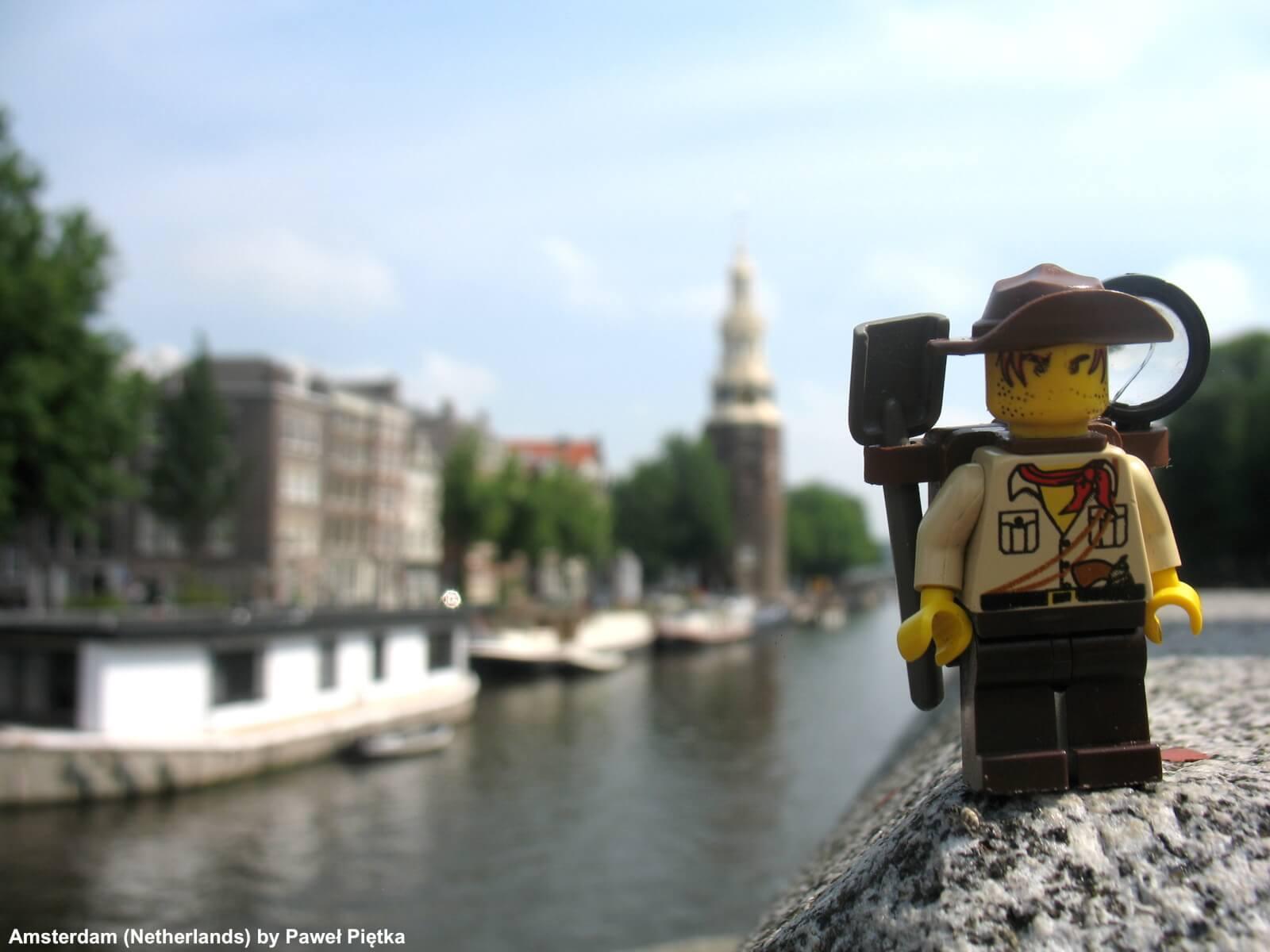 Amsterdam (Netherlands) - Canal and Montelbaanstoren