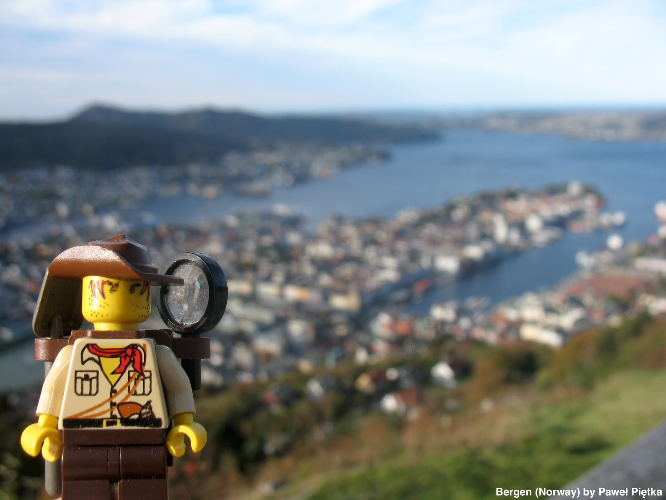 Bergen (Norway) - View of Bergen from Floyen