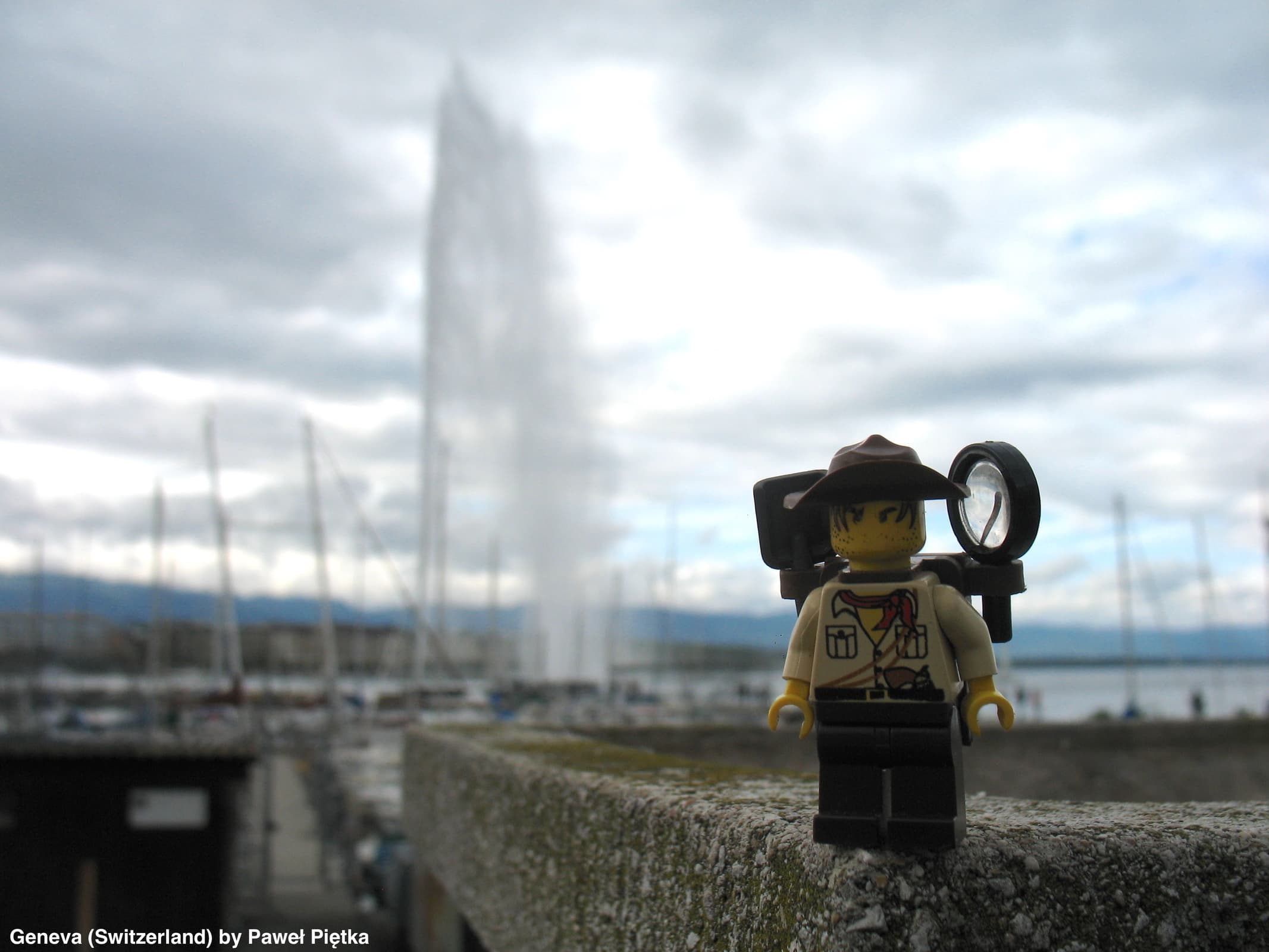 Geneva (Switzerland) - Jet d'Eau fountain