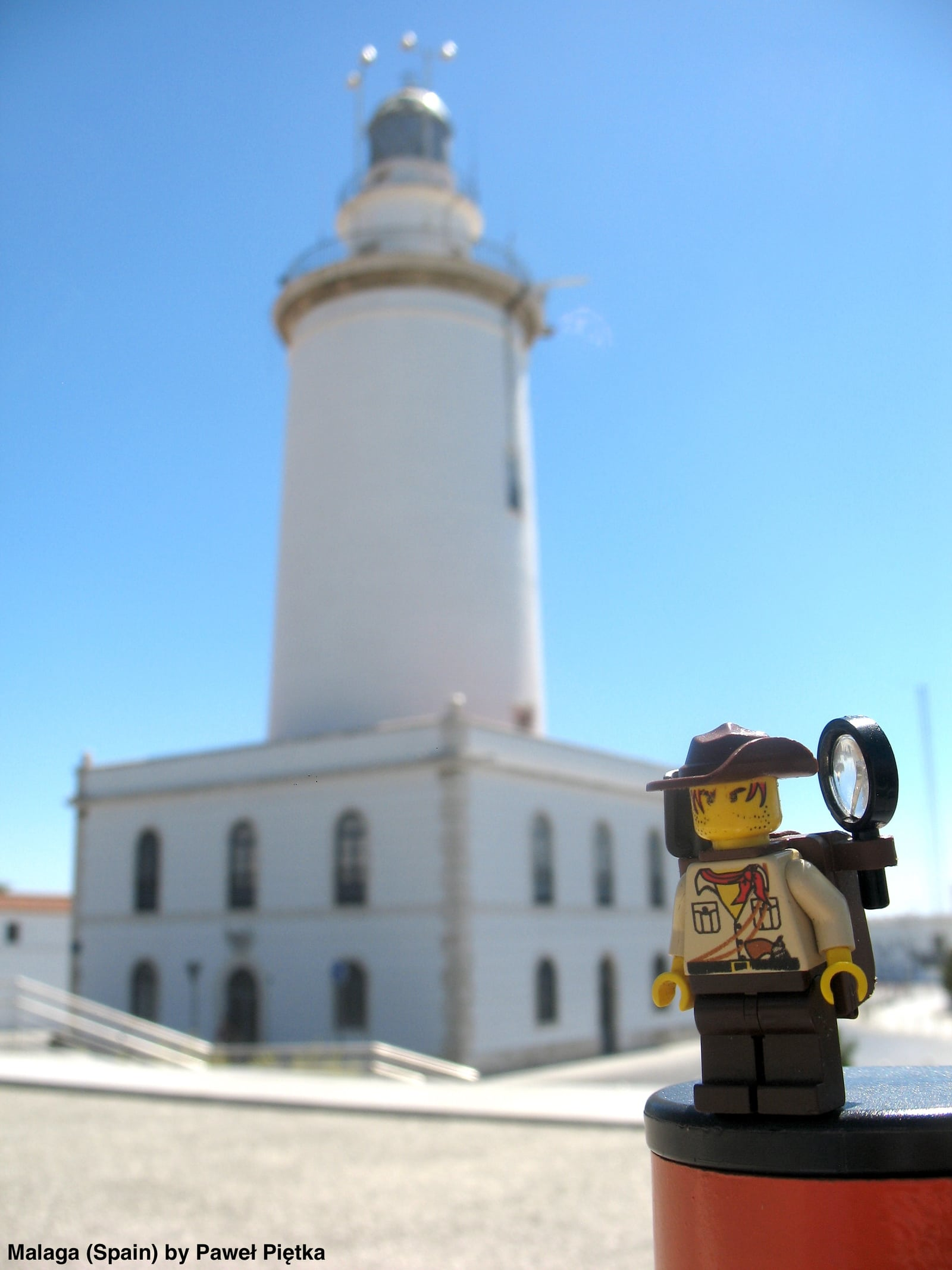 Malaga (Spain) - La Farola lighthouse