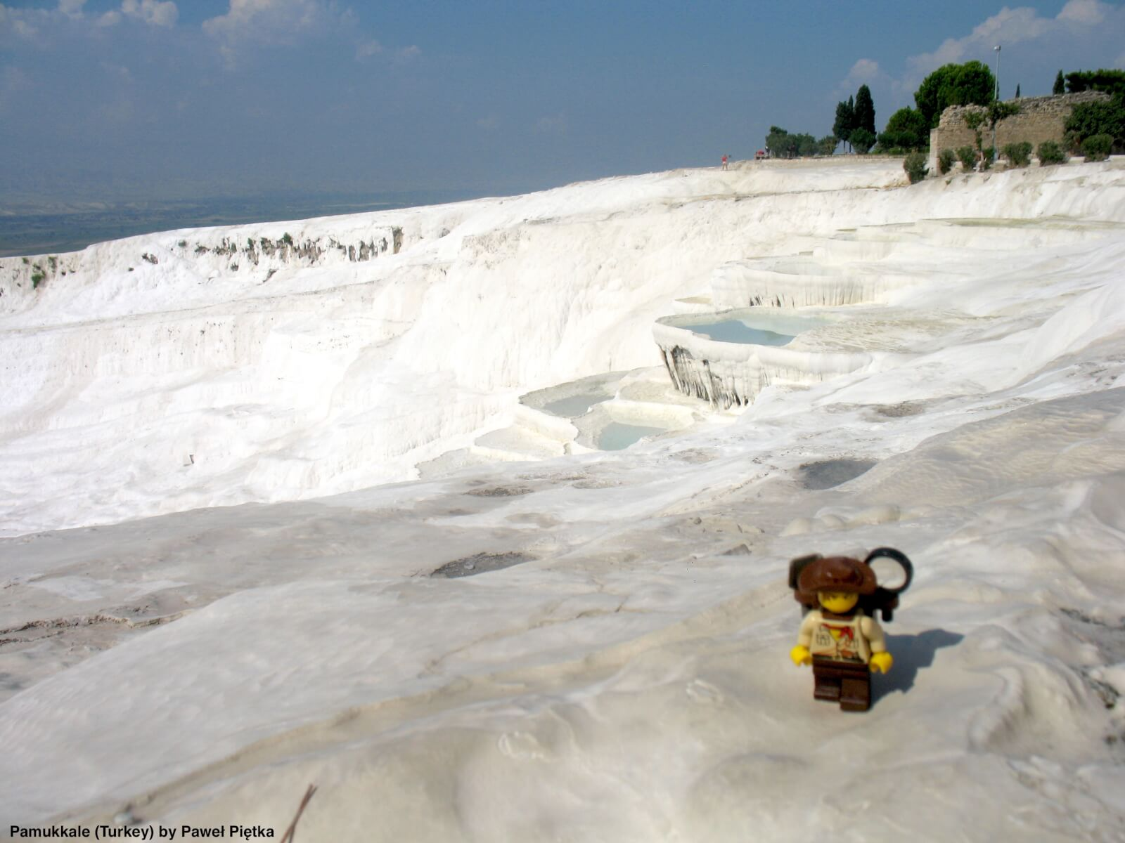 Pamukkale (Turkey) - Terraces of carbonate minerals left by the flowing water