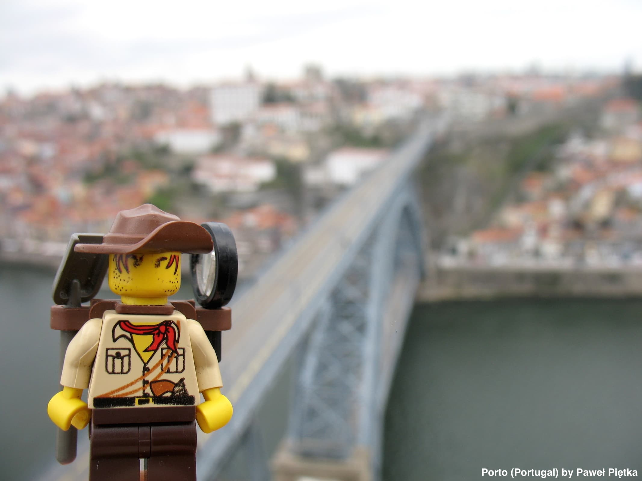 Porto (Portugal) - Dom Luis I Bridge Old Town