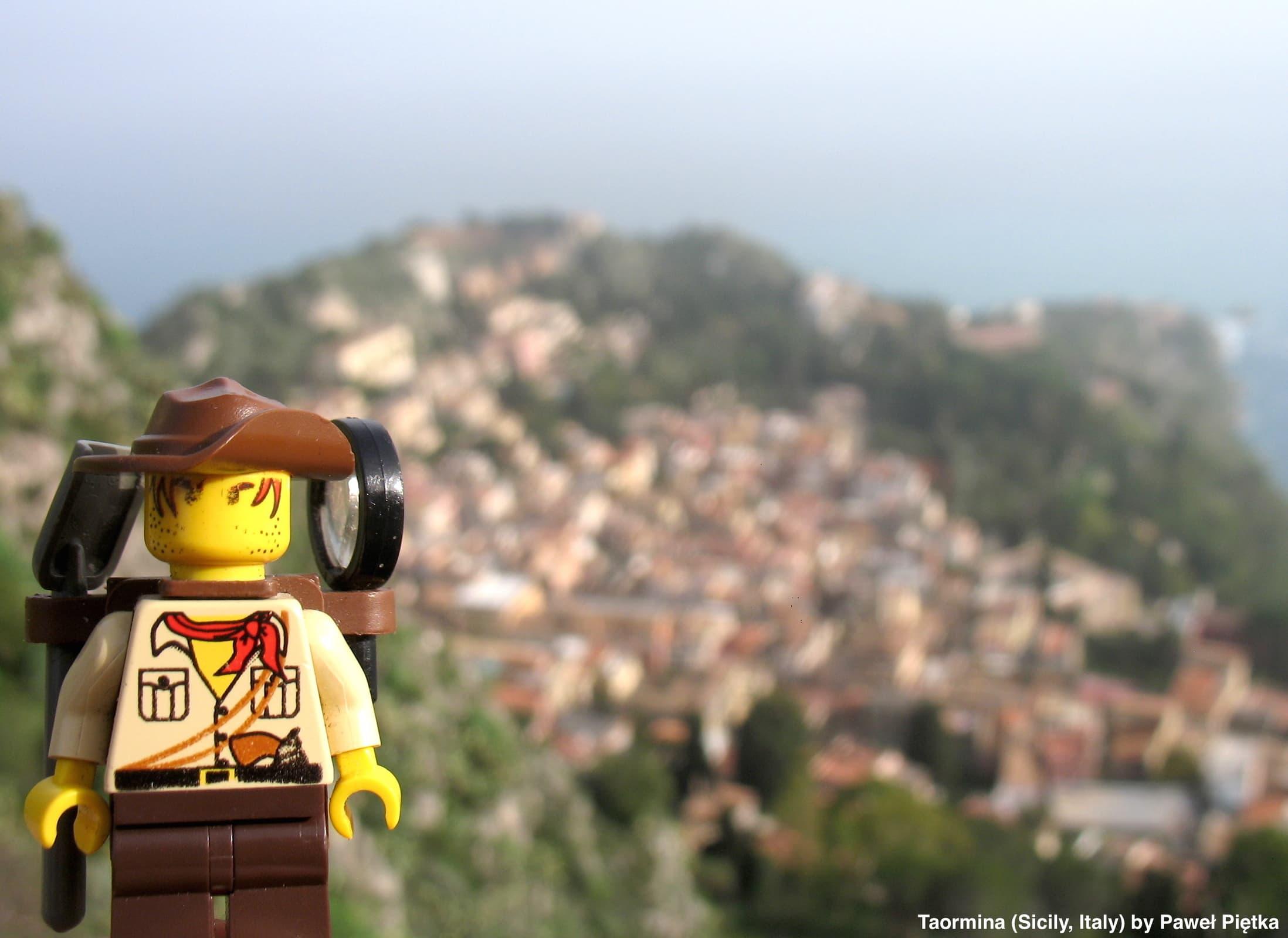Taormina (Sicily, Italy) - View from the Saracen castle