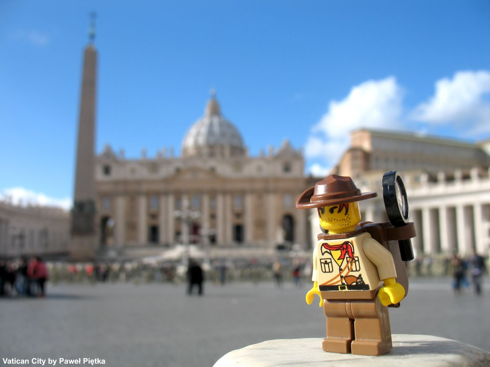 Vatican City St Peters Square the basilica and obelisk Piazza Pio XII