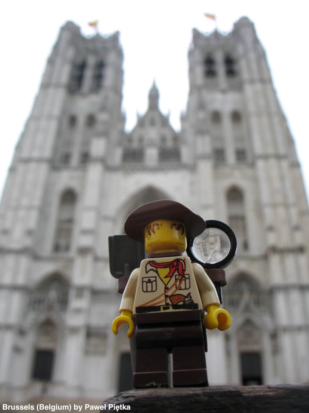 Brussels (Belgium) - Cathedral of St Michael and St Gudula